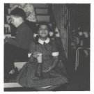 Vintage African American Photo Cute Young Girl on Steps Old Black Americana