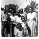 Vintage African American Photo Group Family People Children Old Black Americana