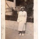 1936 Antique African American Pretty Woman Old Photo Dress Hat Black Americana
