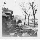 1940-1949 Vintage Happy Boy Old Photo American Children Kids B&W Original USA