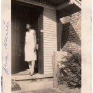 1930s Antique African American Pretty Woman Photo Porch House Black Americana