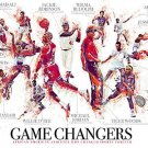 African American Athletes 18x24 Color Wall Art Game Changers Poster Print