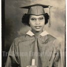 Vintage African-American Photo Woman Graduate School Real Photo Postcard RPPC