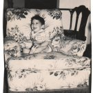 1940-1949 Vintage Happy Boy Photo Baby American Children Old Original B&W USA