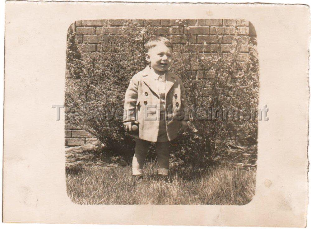 1940-1949 Vintage Happy Boy Photo Kids American Children Old Original B&W USA