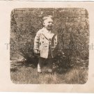 1940-1949 Vintage Happy Boy Photo Kids American Children Old Original B&W USA