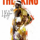 LeBron James The King 18x24 Cavaliers 23 Color Poster African American History