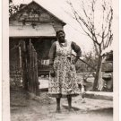 Antique Older Smiling African American Woman Hand on Hip Photo Black Americana