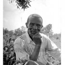 Vintage Older African American Farmer Man Texas Photo Antique Black Americana