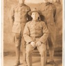 Antique WWI Soldiers Old Real Photo Postcard RPPC World War I Military Picture