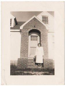 Vintage African American Photo Pretty Woman Building People Old Black Americana