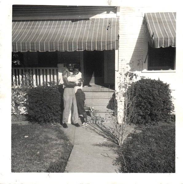 Vintage African American Photo Young Couple Man Woman Girl Old Black Americana