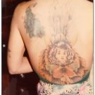80s Vintage Tattoo Photo Woman Pretty Back Body Art Design Artist Tattooed Flash