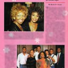 1989 Vintage EBONY Magazine Whitney Houston Clippings Photos African-American Ad