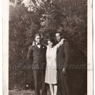 Pretty African American Woman w/Men Antique Old Photo People Black Americana