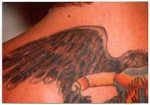 1977 Vintage Tattoo Photo Man Wing Body Art Old Design Artist Tattooed Flash