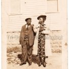 1930s Antique Well Dressed African American Woman Man Old Photo Black Americana