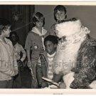 1978 Vintage African American Boy Santa Clause Christmas Photo Black Americana
