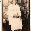 Regal Older African American Woman Bible Book Old Photo Antique Black Americana