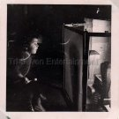 1940-1949 Vintage American Girl Looking at Fireplace Photo Kid Children Candid