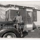 Vintage African American Photo Handsome Man in Front of Car Old Black Americana