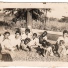 Beautiful African American People Pose on Lawn Old Antique Photo Black Americana