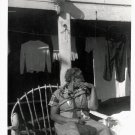 Vintage African American Photo Older Woman Sitting in Chair Old Black Americana