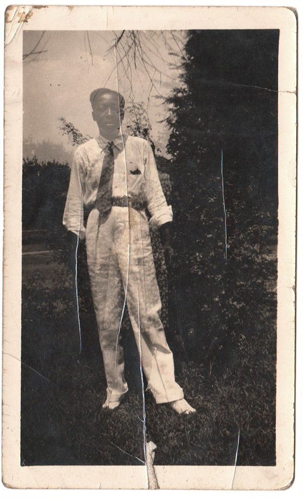 Antique African American Handsome Boy Kid Man Old Photo Suit Tie Black Americana