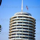 Capitol Records Building Photo Hollywood California Color Wall Art Original USA