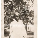 Antique African American Photo Pretty Dark Skinned Woman Old Black Americana