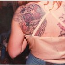 1980 Vintage Tattoo Photo Woman Flower Old Body Art Design Artist Tattooed Flash