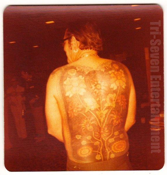 1977 Vintage Tattoo Photo Man Convention Flower Body Art Design Tattooed Flash