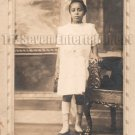 Antique African American Young Girl Real Photo Postcard RPPC Black Americana 04
