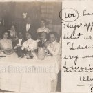 Antique African American Dinner Group Real Photo Postcard RPPC Black Americana