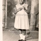 Vintage African-American Girl in Dress Real Photo Postcard RPPC Black Americana