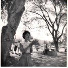 1953 Vintage Beautiful Young Asian Woman Photo w/Lovely Note to Friend on Back