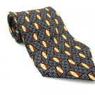 Men's New BILL BLASS 100% Silk Tie Black Burgundy NWOT Necktie Ties BL0154
