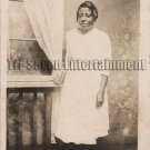 Antique African American Pretty Lady Real Photo Postcard RPPC Black Americana 05