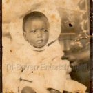 Vintage Adorable Cute African American Baby Boy Old Photo Booth Black Americana