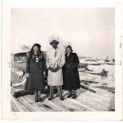 1956 Vintage Debonair African-American Man w/ Two Ladies Old Photo Black People
