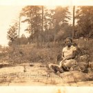 1930s Antique Photo Pretty Dark-Skinned African-American Woman Black Americana