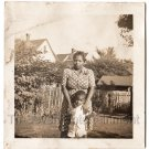 Vintage African American Woman Mother Child Boy Kid Son Old Photo Black People
