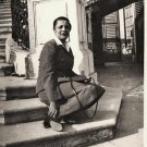 Vintage African American Photo Pretty Woman Seated On Steps Black Americana