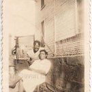 1940-50s Vintage Old Photo of Two Pretty African-American Women Black Americana