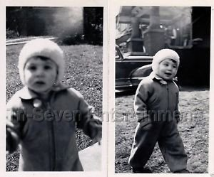 1940s Vintage Cute Boy w/Charisma Old Photo B&W Little Children American (Lot 2)