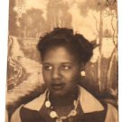 1940s Vintage African-American Woman Short Hair Photo Booth Black Americana