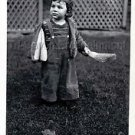 1940s Vintage Young Sad Boy Cute Kid Old Photo B&W Little Children American USA