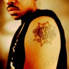 Vintage 1990s Tattoo 8x10 Photo Guru Gang Starr African American Rappers Rap