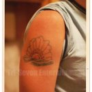 1980s Vintage Tattoo Photo Man Sun Arm Body Art Original Design Tattooed Flash