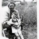 1940s Vintage Smiling Boy w/Grandma Cute Kid Old Photo B&W Children American USA